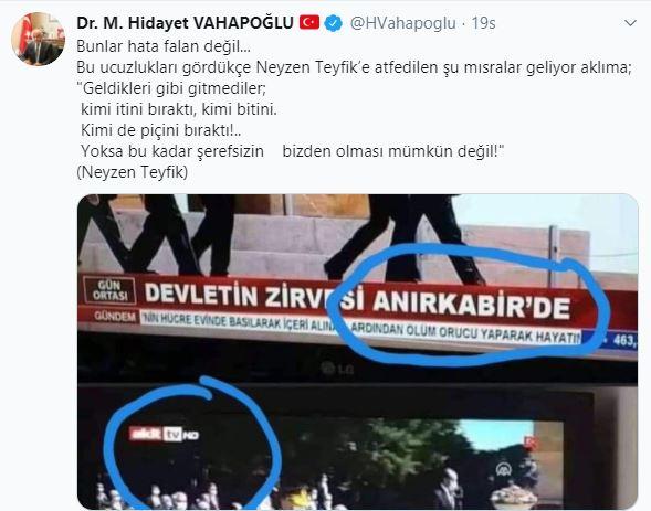 AKİT TV'deki skandal başlığa MHP'li vekilden 'Neyzen Tevfik'li tepki