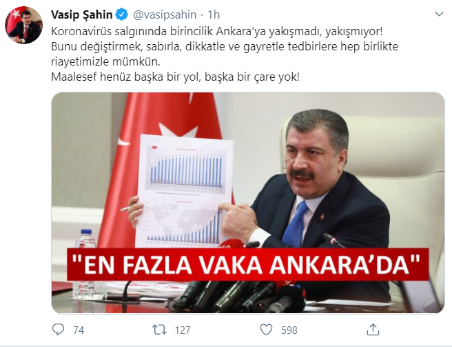 Ankara'yla ilgili korona iddiaların ardından Vali Vasip Şahin'den ilk açıklama